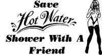 Save Hot Water Decal