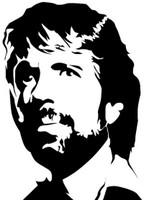 Chuck Norris Retro Meme Decal