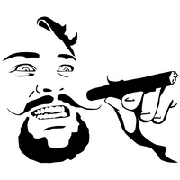 Crazy Cigar Guy Meme Decal