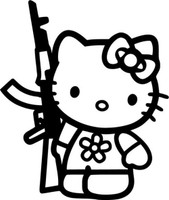 Hello Kitty AK-47 Decal