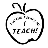 Teacher Apple (Can't Scare Me) Decal
