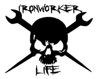 Ironworkers Life Skull Decal