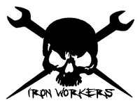Ironworkers Skull Decal #2