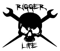 Rigger Life Skull Decal