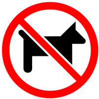 No Pets With Slash Sticker