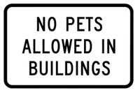 No Pets Allowed In Buildings Sticker