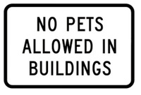 No Pets Allowed In Buildings Sticker