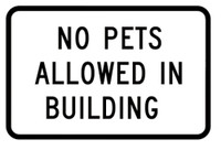 No Pets Allowed In Building Sticker