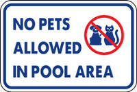 No Pets Allowed In Pool Area Sticker