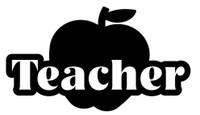 Teacher Apple Decal