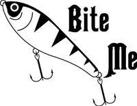 Bite Me Fishing Decal #1