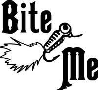 Bite Me Fishing Decal #3