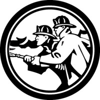 Fire Fighter With Hose Decal