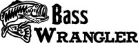 Bass Wrangler Fishing Decal