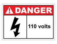 ANSI Danger 110 Volts