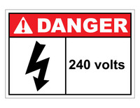 ANSI Danger 240 Volts