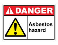 ANSI Danger Asbestos Hazard