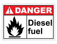 ANSI Danger Diesel Fuel #1