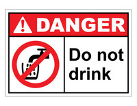 ANSI Danger Do Not Drink