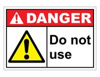ANSI Danger Do Not Use