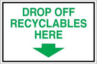 Drop Off Recyclables Here With Arrow