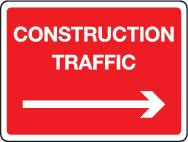 Construction Traffic With Right Arrow