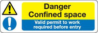 Danger Confined Space Valid Work Permit Required Before Entry