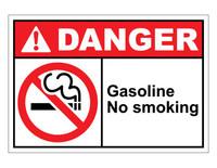 ANSI Danger Gasoline No Smoking