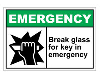 ANSI Emergency Break Glass For Key In Emergency