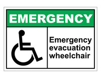 ANSI Emergency Evacuation Wheelchair