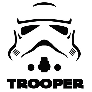Star Wars Storm Trooper Helmet Decal #3