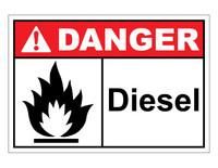 ANSI Danger Diesel