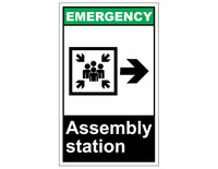 ANSI Emergency Assembly Station With Right Arrow 1