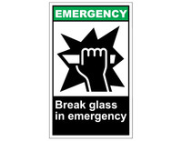 ANSI Emergency Break Glass In Emergency 1