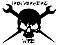 Ironworkers Wife Skull Decal