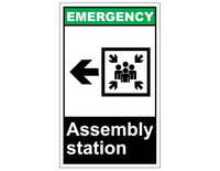 ANSI Emergency Assembly Station With Left Arrow 1