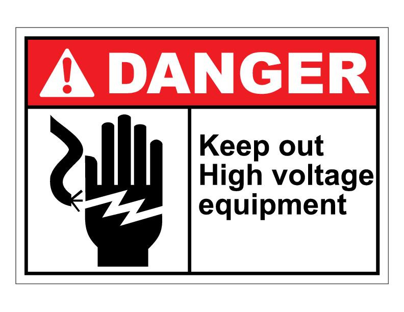 High Voltage Gear : Ansi danger keep out high voltage equipment