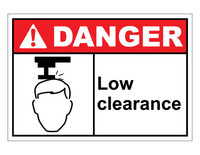 ANSI Danger Low Clearance