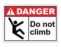 ANSI Danger Do Not Climb