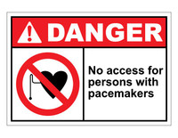 ANSI Danger No Access For Persons With Pacemakers