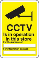 CCTV Is In Operation In This Store