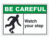 ANSI Be Careful Watch Your Step