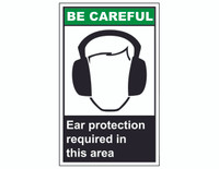 ANSI Be Careful Ear Protection Required In This Area
