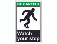 ANSI Be Careful Watch Your Step 1