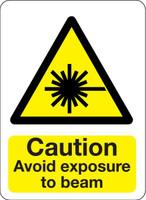 Caution Avoid Exposure To Beam
