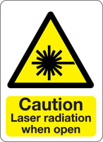 Caution Laser Radiation When Open