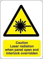 Caution Laser Radiation When Panel Open And Interlock Overriden