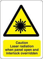 Caution Laser Radiation When Panel Open And Interlock Overriden