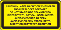 Caution Laser Radiation When Open And Interlocks Defeated...