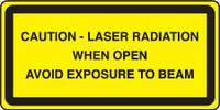 Caution Laser Radiation When Open Avoid Exposure To Beam